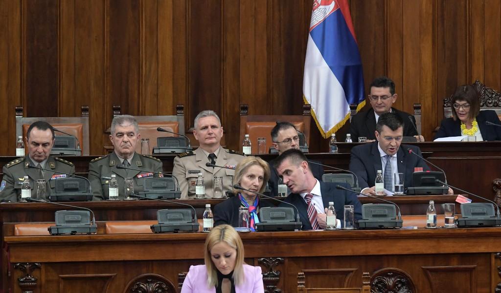 Предлози закона из система одбране на седници Скупштине Србије