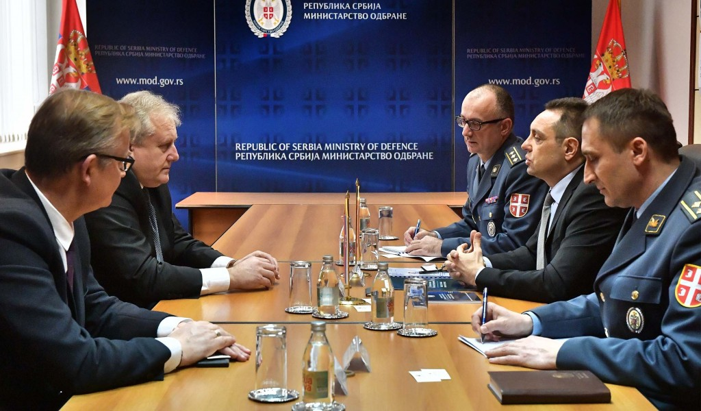 Meeting of the Minister of Defence with the Ambassador of the Republic of Belarus
