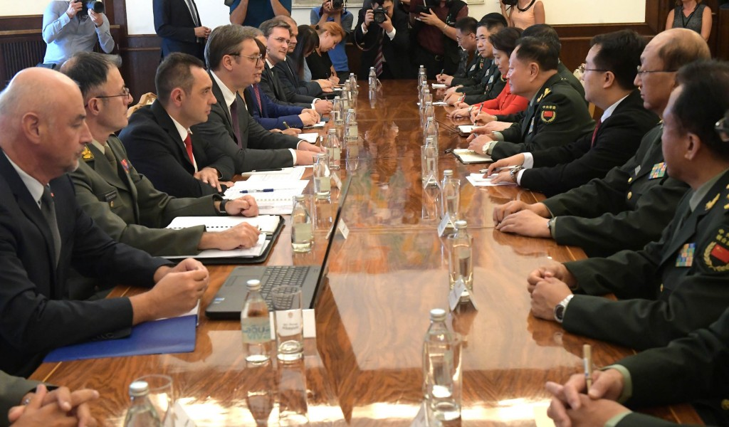 President Vučić meets the Vice Chairman of the Central Military Commission of the People s Republic of China