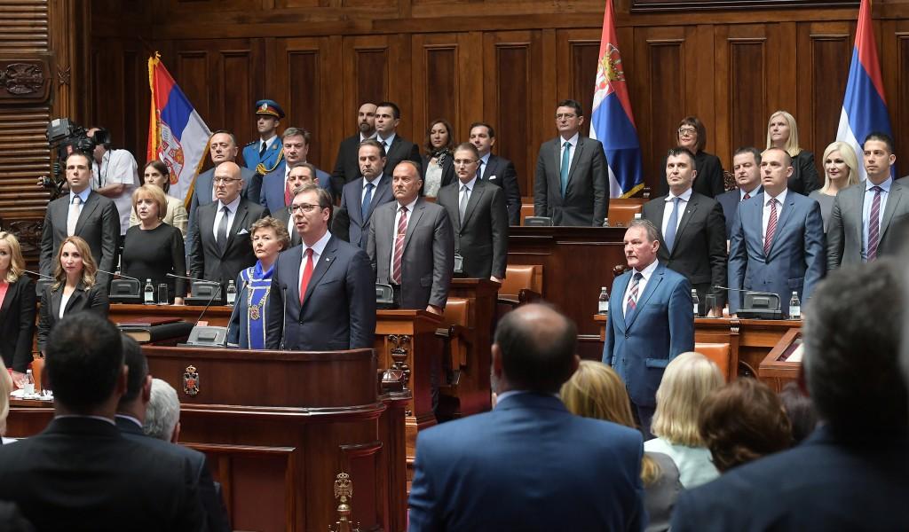 Полагање заклетве новог председника Србије