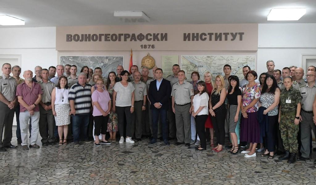 Ministar Vulin obišao Vojnogeografski institut