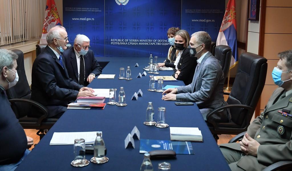 Sastanak ministra Stefanovića sa predstavnicima Udruženja penzionisanih podoficira