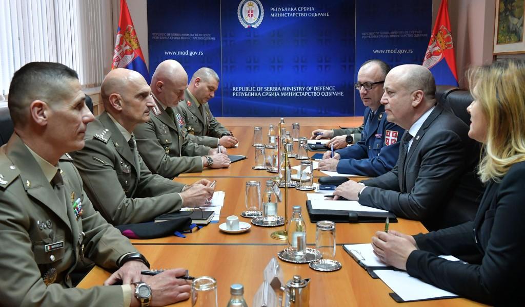 Састанак државног секретара Живковића са генералом Портоланом