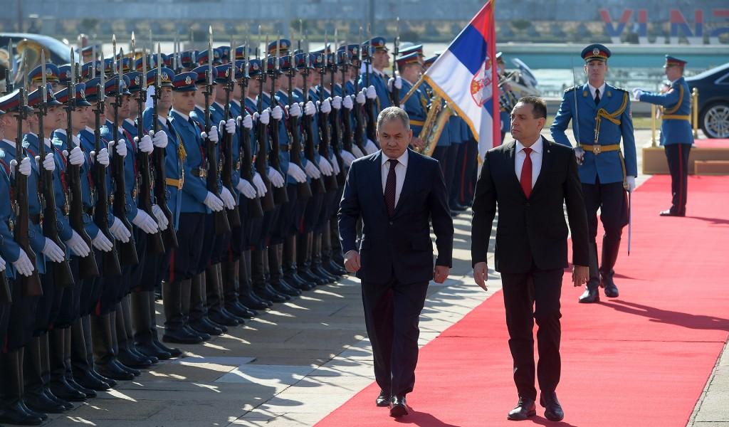 Svečani doček ministra odbrane Ruske Federacije