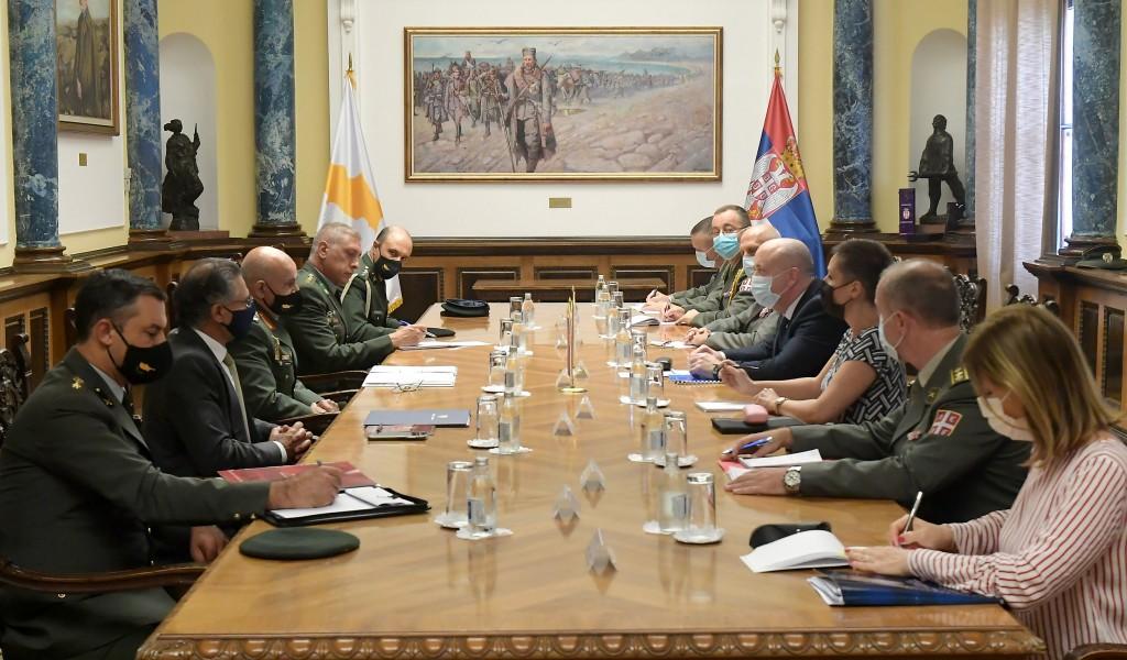 Meeting between State Secretary Živković and General Zervakis