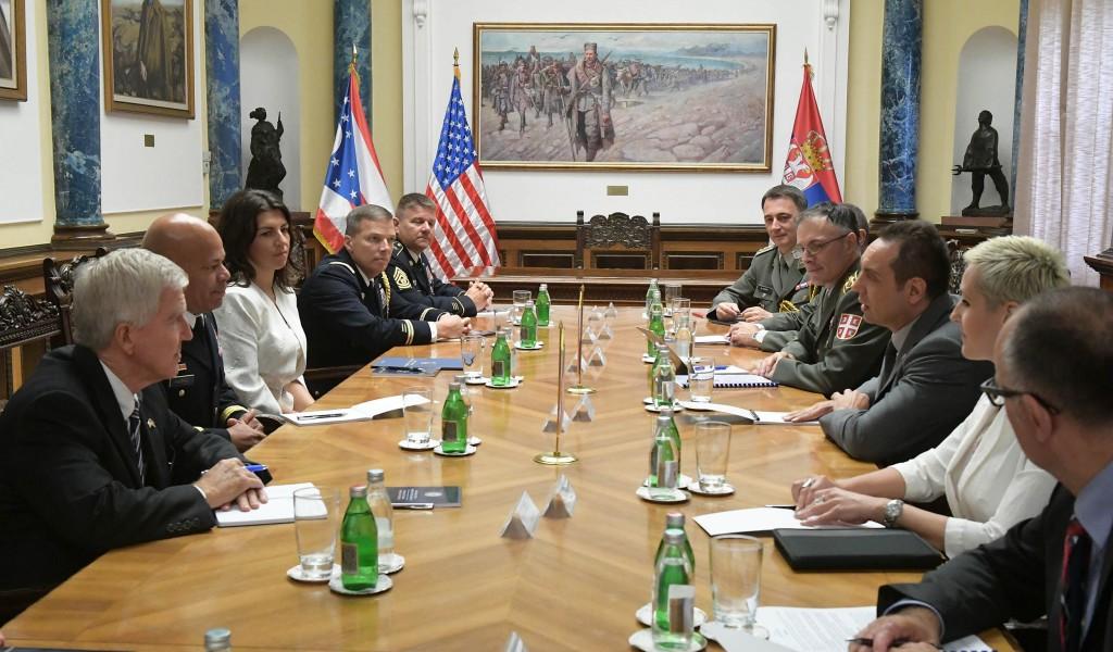 Састанак министра Вулина и команданта Националне Гарде Охајо