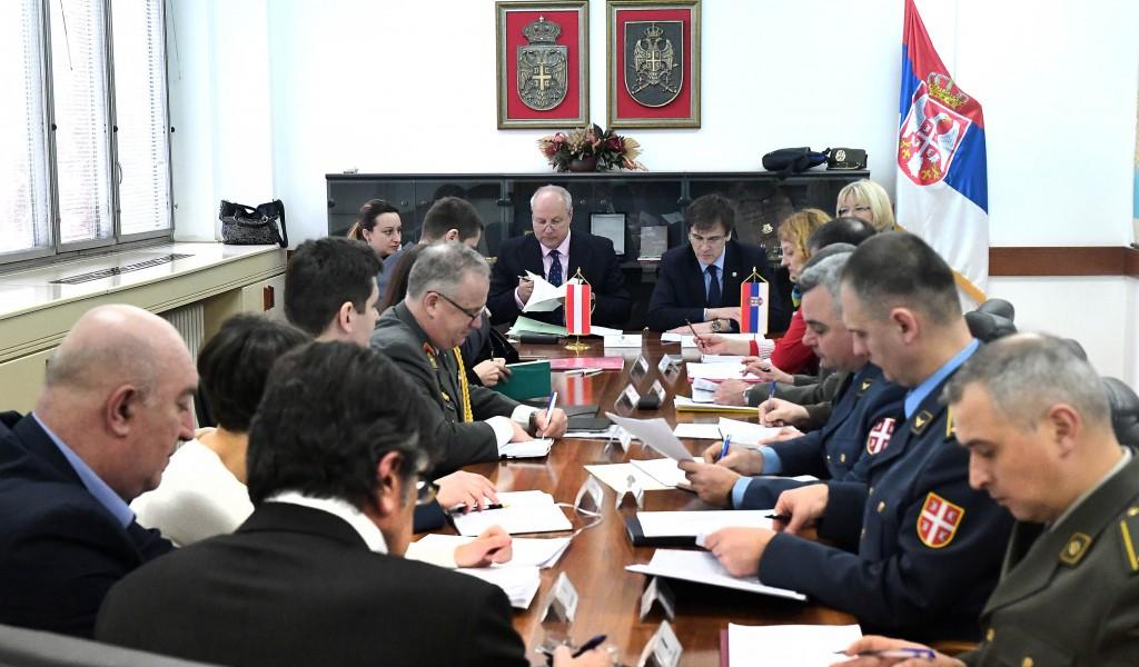 Одржани експертски разговори са представницима Савезног Министарства одбране и спорта Републике Аустрије