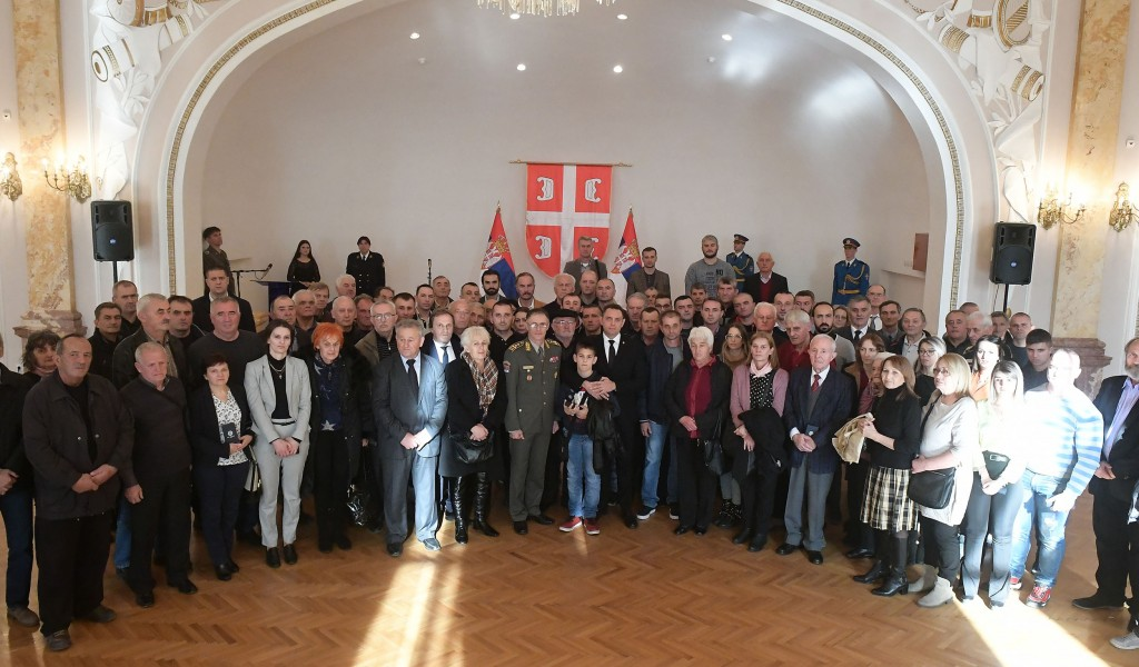 Memorial medals were presented in the Guard Club to the family members of warriors fallen in NATO aggression from the territory of Montenegro