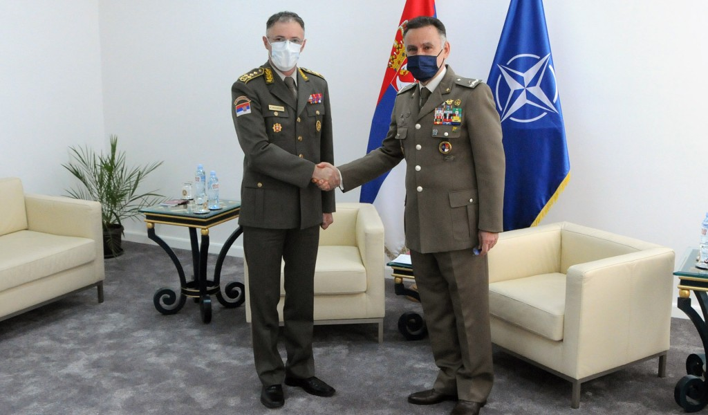 Састанак начелника Генералштаба са шефом Војне канцеларије НАТО а за везу