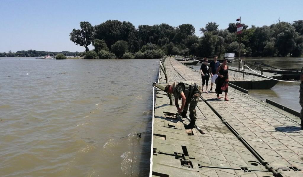 Pontoniers of the River Flotilla Installed Bridge over Lido