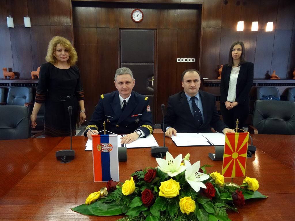 Унапређење сарадње у области одбране са Македонијом