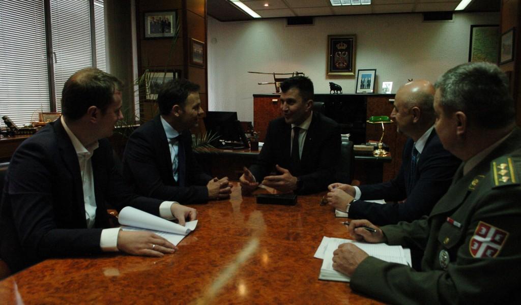 Састанак министра одбране са градоначелником Београда
