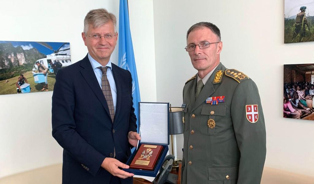 Начелник Генералштаба са замеником Генералног секретара УН