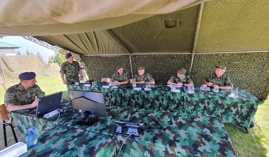 Обилазак јединица 126 бригаде ВОЈИН