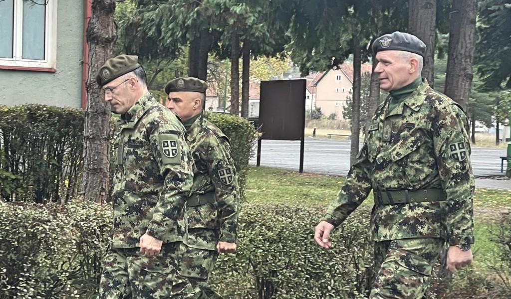 Обилазак дела задејствованих снага Војске Србије