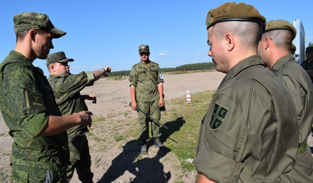 Members of the Serbian Armed Forces at an Exercise in the Russian Federation
