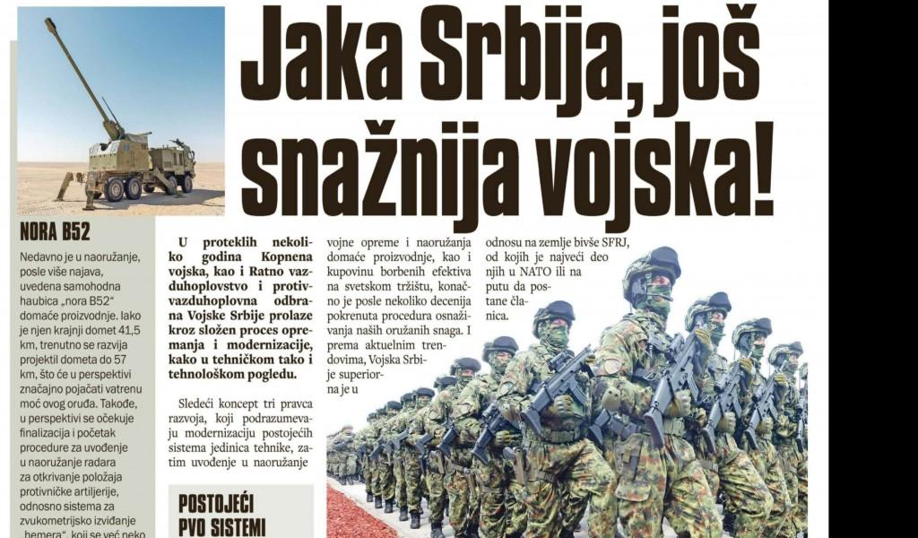 Jaka Srbija još snažnija vojska