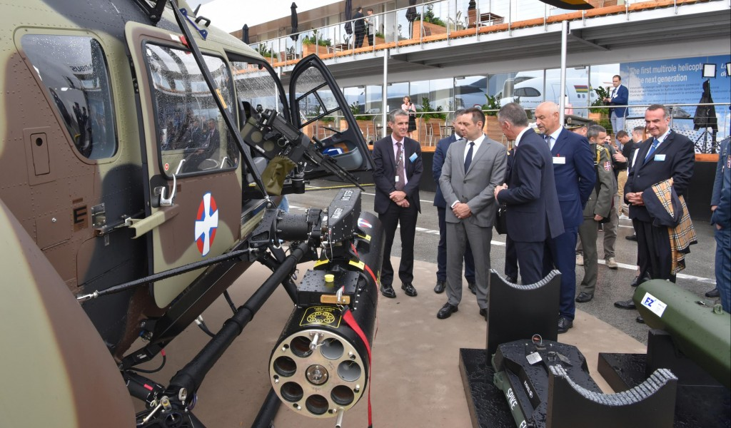 Minister Vulin at the Paris Air Show Serbian armament on the most modern systems
