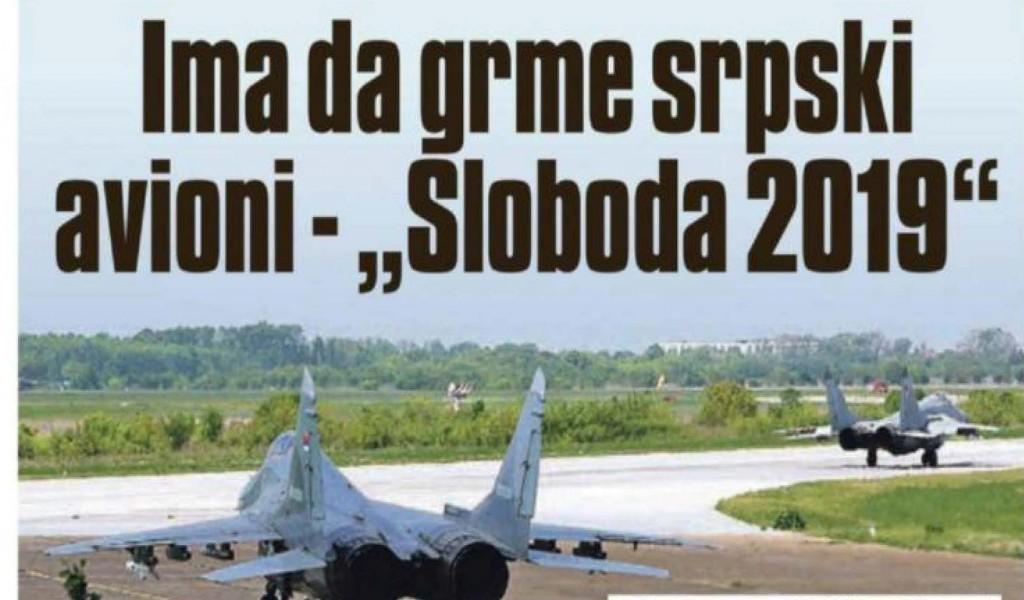 Ima da grme srpski avioni Sloboda 2019