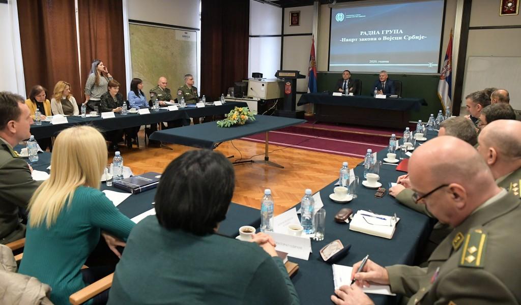 Почела рад Радна група за израду Закона о Војсци