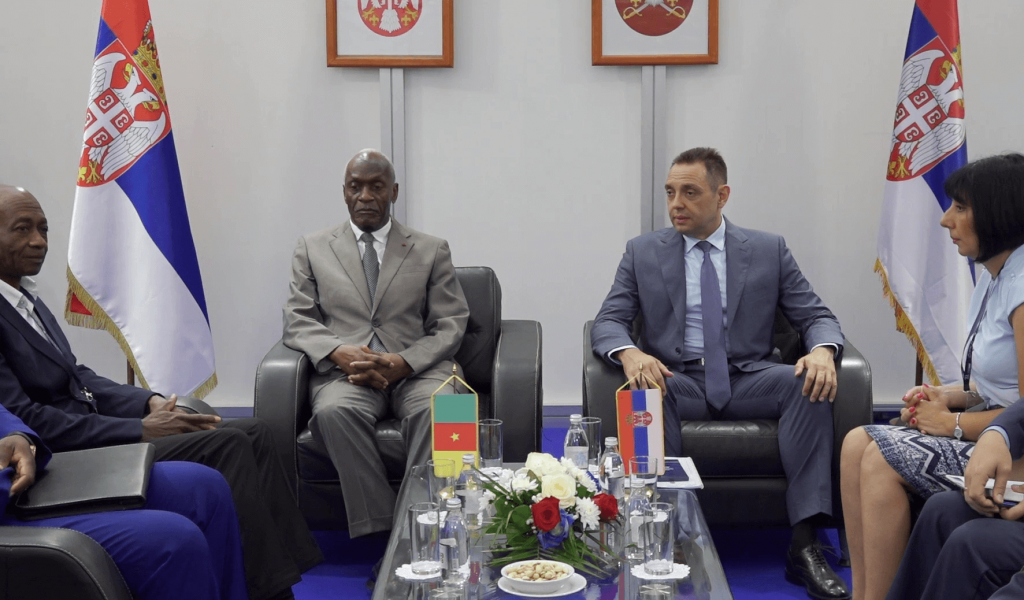 Minister Vulin meets with delegation of Cameroon