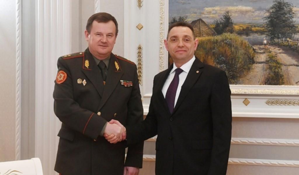 Састанак министра Вулина са државним секретаром Савета за безбедност Белорусије генералом Равковим