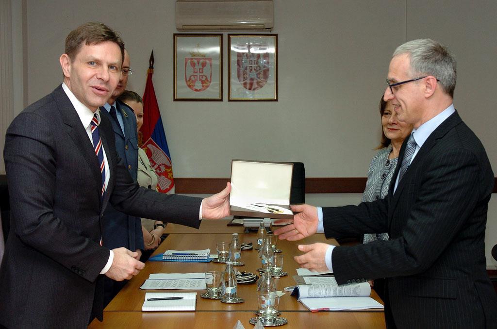 Састанак државног секретара Александра Николића и Горана Свилановића