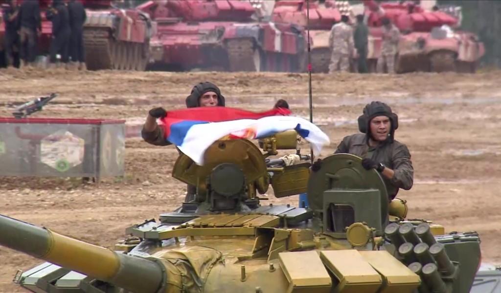 Tankmen of Serbian Armed Forces in Tank Biathlon Semi finals