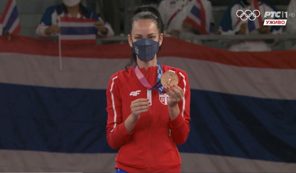 Припадница Спортске јединице Тијана Богдановић  бронзана на Олимпијским играма у Токију