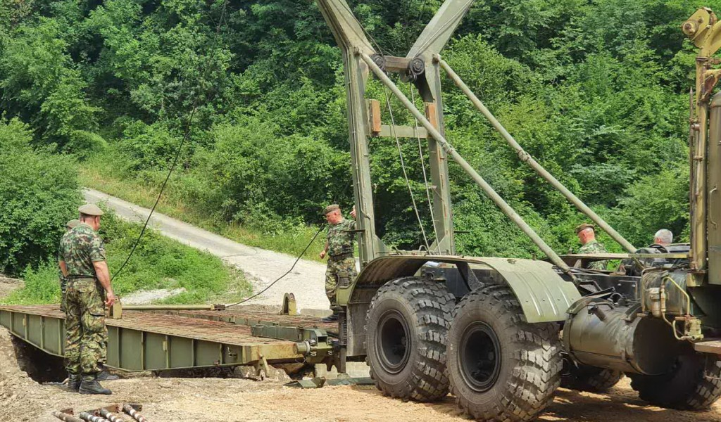The Serbian Armed Forces Erected a Bridge in the Municipality of Mali Zvornik