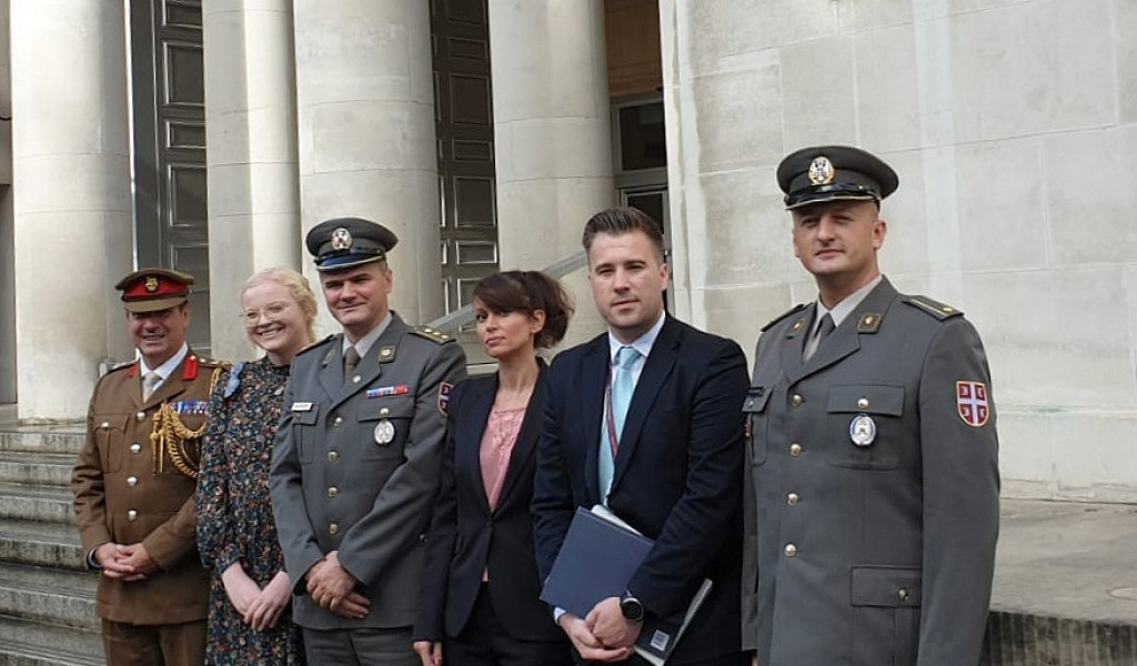 Delegation of the Public Relations Department visiting the UK Ministry of Defense