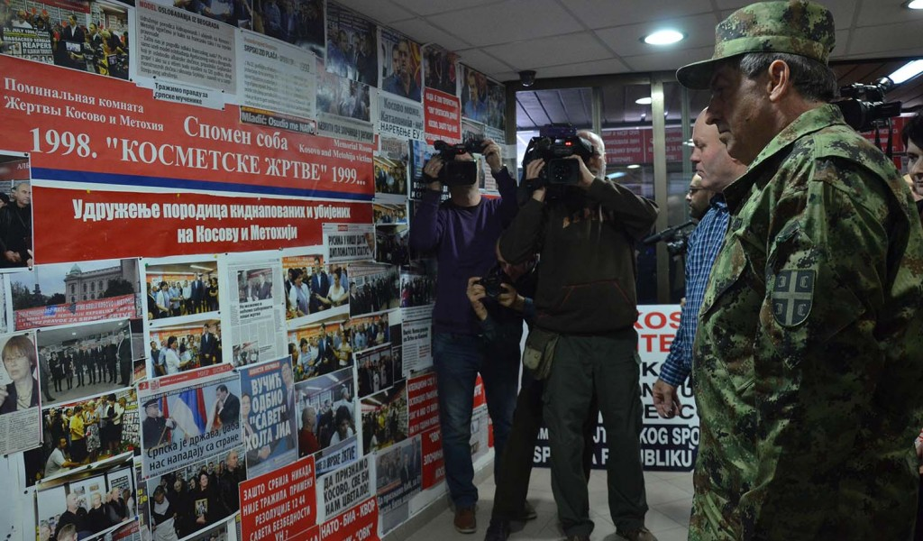 Начелник Генералштаба посетио Спомен собу Косметске жртве