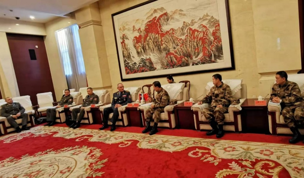 Delegation of the University of Defense visiting the National Defense University of China