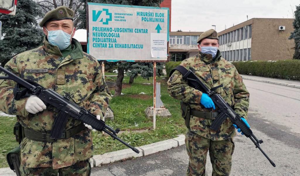 Појачане мере Војске Србије на сузбијању Covida 19 у Ваљеву