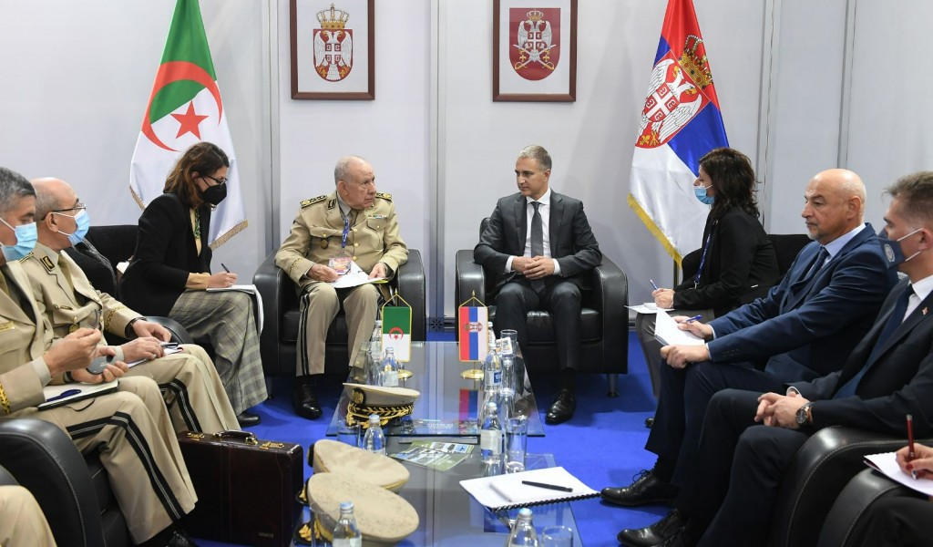 Meeting of Minister Stefanović with Algerian Chief of Staff