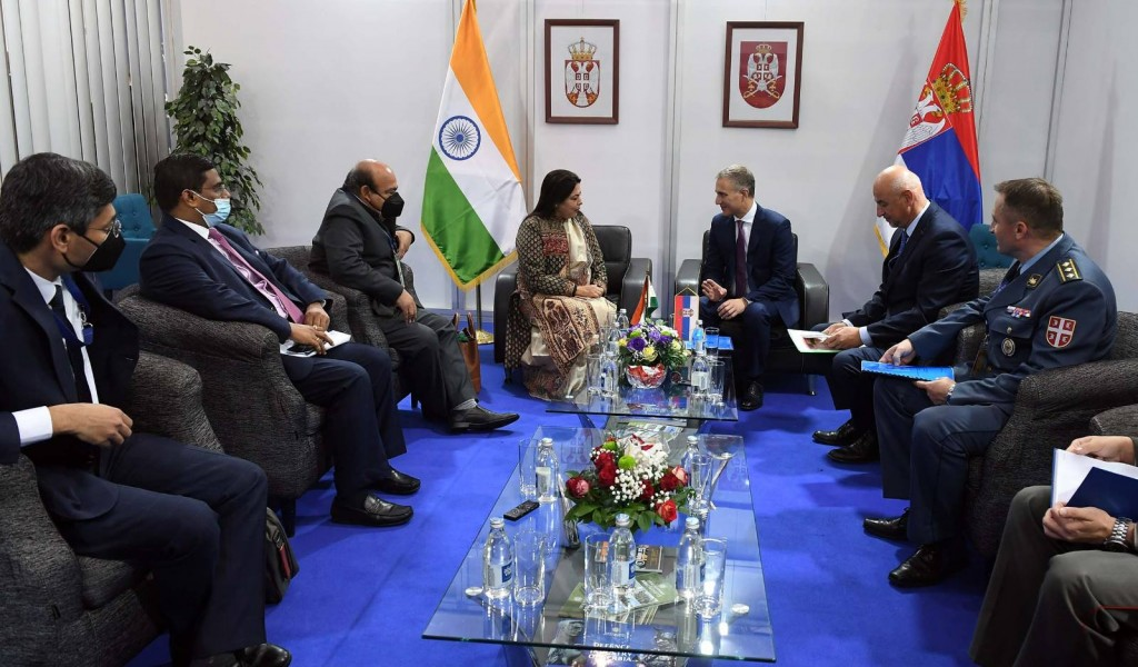Minister Stefanović Talked to Minister of State for External Affairs of India Lekhi