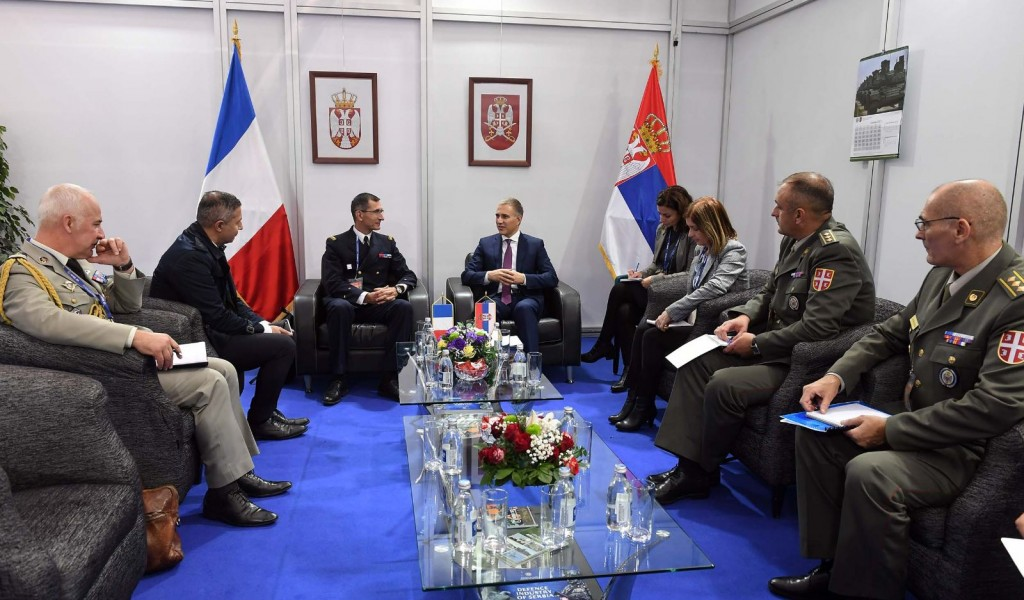 Minister Stefanović Talked to Delegation of French Directorate for Armament