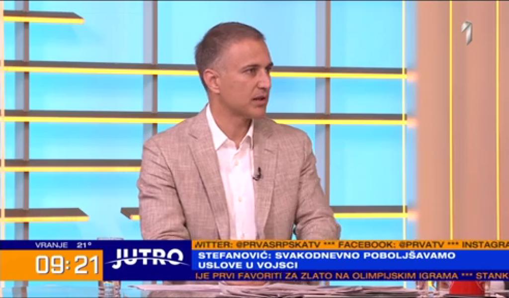 Министар Стефановић: Само јака Војска гарантује мир и безбедност Србије