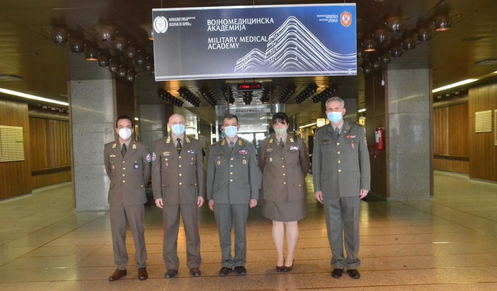 Посета начелника санитетске службе Оружаних снага Мађарске Управи за војно здравство
