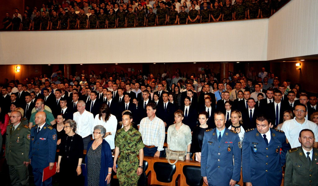 Svečanost povodom završetka školovanja 43 klase učenika Vojne gimnazije