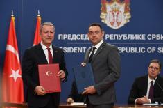 Председник Вучић: Напредак у сарадњи у области одбране са Турском