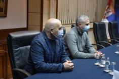 Састанак државног секретара Живковића са покрајинским секретаром за спорт и омладину Бастом