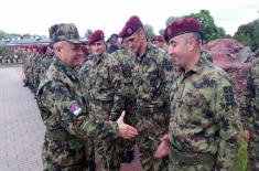 "Министар одбране на вежби ""Словенско братство"""