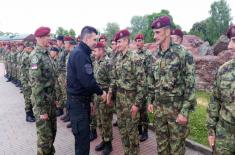 "Minister of Defence at the Exercise ""Slavic Brotherhood"""