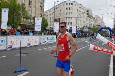Успех припадника војске на 32. Београдском маратону