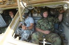 "Preparations of Serbian rocketeers for firings at ""Shabla 2017"""