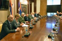 Vulin and Dodik at Banjaluka with Košare worriers