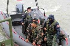 Joint exercise of river units of Serbia and Hungary