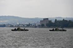 Uspešno izveden prikaz dela sposobnosti Rečne flotile