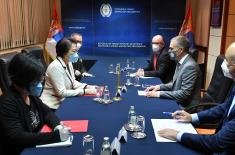 Minister Stefanović meets with Ambassador of China Chen Bo